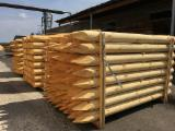 Machine-Rounded Pine Stakes, 10-16 cm