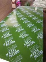 Green color plastic film faced plywood