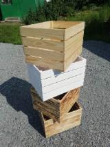 Pine, Spruce Crates For Storage, 16-32 cm High