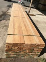 Decks Exterior Madeira Sólida - Vender Decking Anti-derrapante (2 Lados) Lariço Siberiano