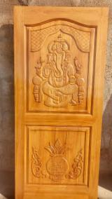 Hand Carved Antique solid teak wood doors (Indian Craftsman) customized sizes made against order