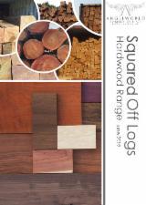 Teak Square Logs, 14-40 cm Diameter