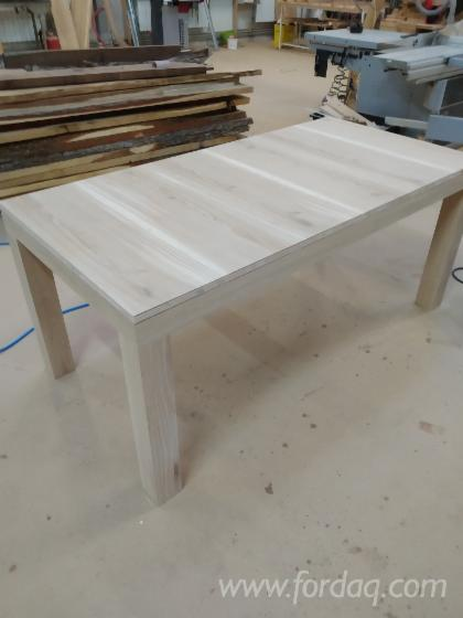 wooden industrial/loft-style tables, small manufacture