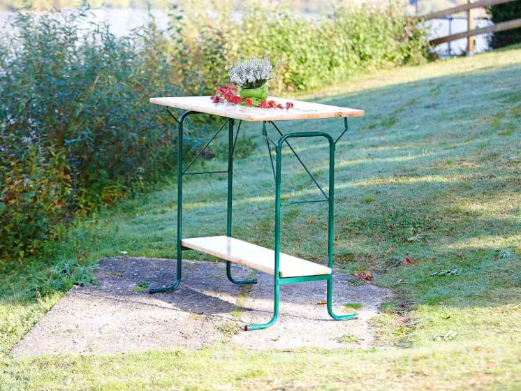 Foldable High Tables with Wooden Top