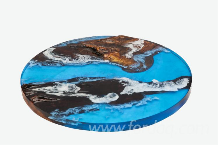 epoxy resin wood coffee table
