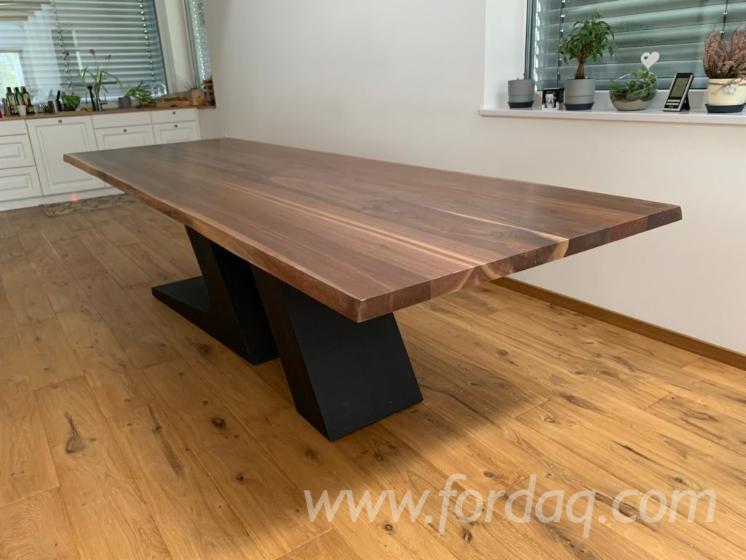 Black Walnut Kitchen Table For Sale