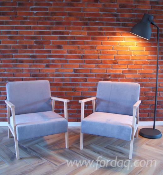 Classic Beech Armchair For Sale