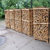 Oak Firewood . Stacked Pallet of Kiln Dried Oak Firewood