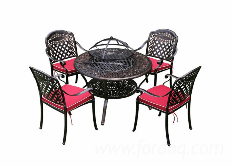 Cast-Aluminium-Garden-Set-For