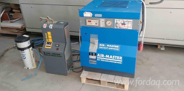 Kompresor-mit-Lufttrockner-und-Olseparator-Schneider-Air-Master-AM7-10S1---Owatec