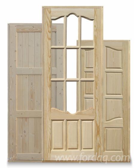 Europejskie-Drewno-Iglaste--Drzwi--Drewno-Lite--Sosna-Zwyczajna---Redwood