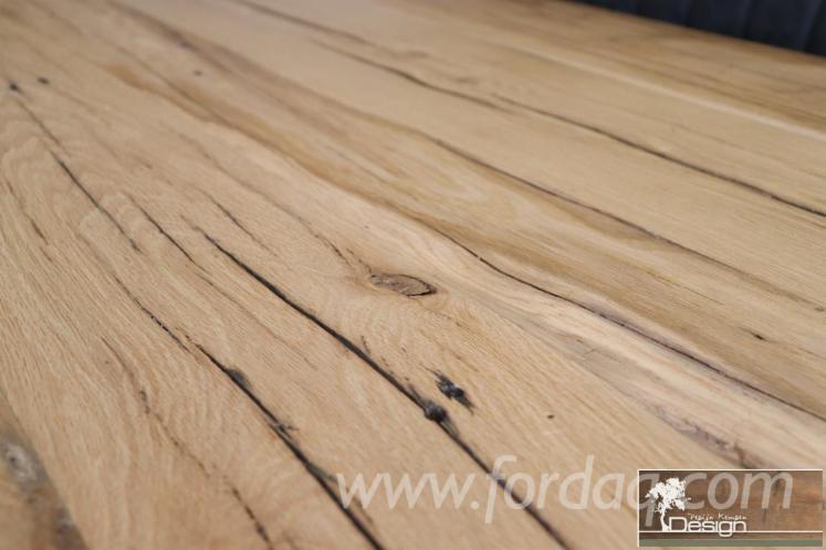Eiche-rustikalen-Tischplatten-und-Tischen-aus-alter-Eiche--