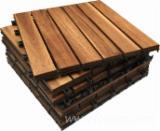 null - Teak wood Deck Tiles/ Interlocking Flooring Tiles/ Graden decking tiles/ anti-slip wood tiles