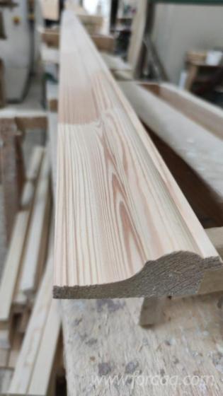 Massivholz--Kiefer---F%C3%B6hre--T%C3%BCrpfosten--Querst%C3%BCcke