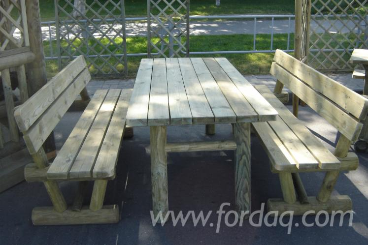 Vend-Tables-De-Jardin-Traditionnel-R%C3%A9sineux-Europ%C3%A9ens-Pin-%28Pinus-Sylvestris%29---Bois