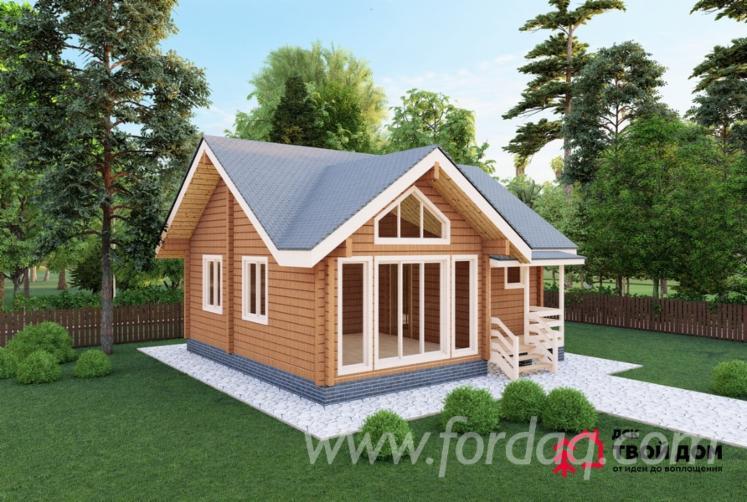Spruce-Glued-Profiled-Lumber---Laminated-Veneer-Lumber-House-Ladoga--Wooden