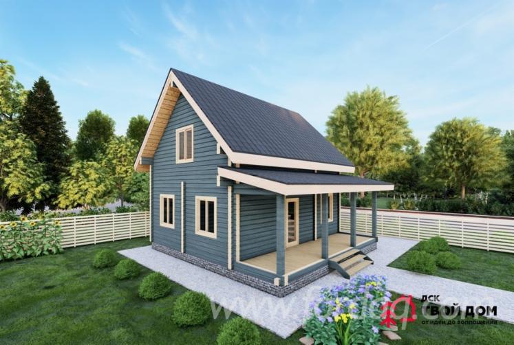 Spruce-Glued-Profiled-Lumber---Laminated-Veneer-Lumber-House-Onega--Wooden