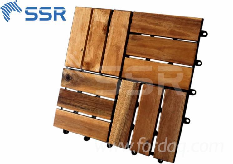 Garden-Acacia-Wood-Interlock-Floor-Decking