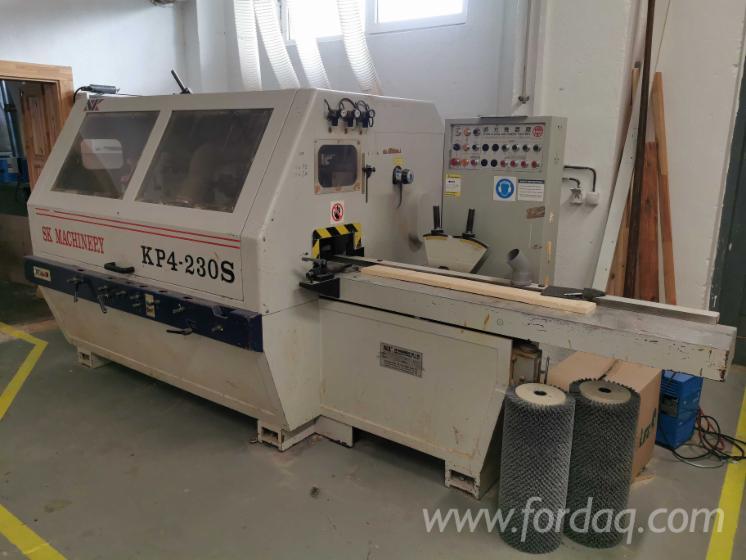 Venta-Moldureras-Para-Trabajar-Tres-Y-Cuatro-Caras-SK-Machinery-KP4-230S-Usada-2005