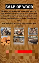 null - Sale of African Pencil Cedar Veneer Logs