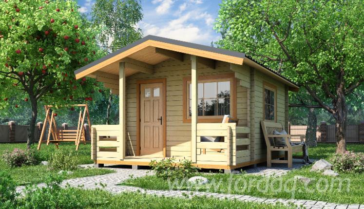 Dom-Drewniany-Z-Bali-Frezowanych--%C5%9Awierk---Whitewood