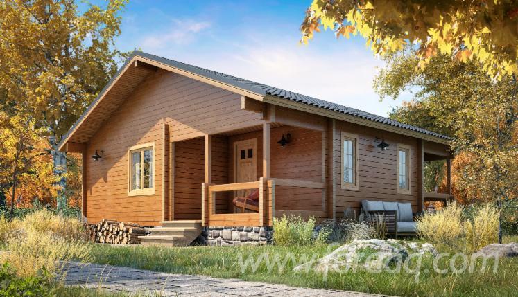 Naturstammhaus--Fichte-