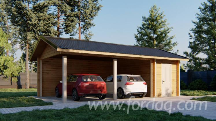 Carport---Garage-Abete---Legni-Bianchi