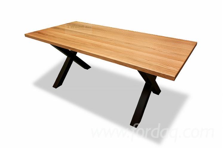 Vend-Table-De-Salle-%C3%80-Manger-Contemporain-Feuillus-Europ%C3%A9ens-Ch%C3%AAne
