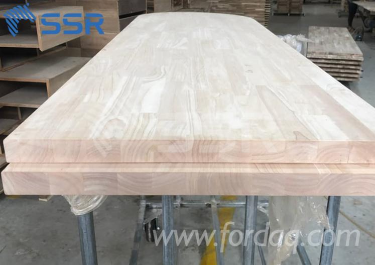Rubberwood-finger-jointed---solid-table-top--desk