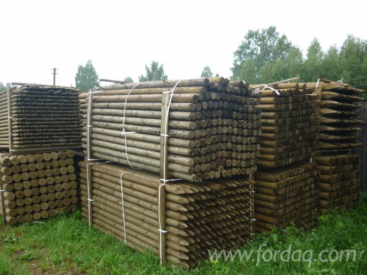 Vender-Madeira-Redonda-Aparada-De-Forma-Cil%C3%ADndrica-Pinus---Sequ%C3%B3ia-Vermelha-R%C3%BAssia-Vologda