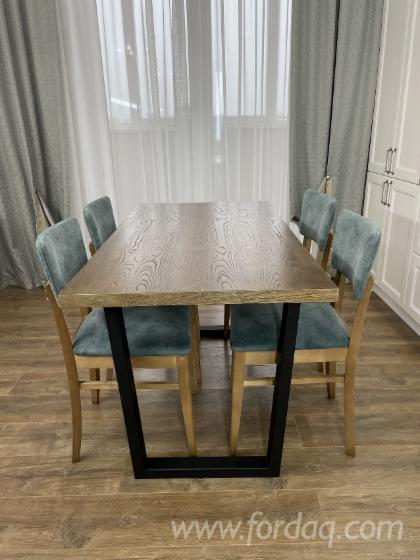 Rectangular-Dining-Table-with-Metal-Underground