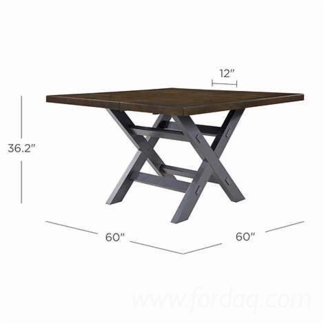 Vend-Table-De-Salle-%C3%80-Manger-Design-Feuillus-Europ%C3%A9ens-Ch%C3%AAne--Peuplier