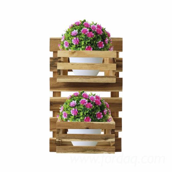Hanging-Wood-Flower-Pot