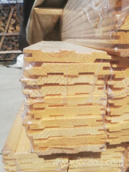 Massivholz--Fichte-