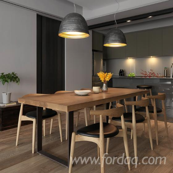 Oak--Poplar--Walnut-Table-And-Chair-Sets-With-Wood
