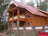 Wood Houses - Precut Timber Framing - Canadian Log House, Pine (Pinus sylvestris) - Redwood