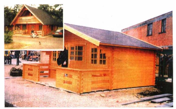 Casa de troncos escuadrados