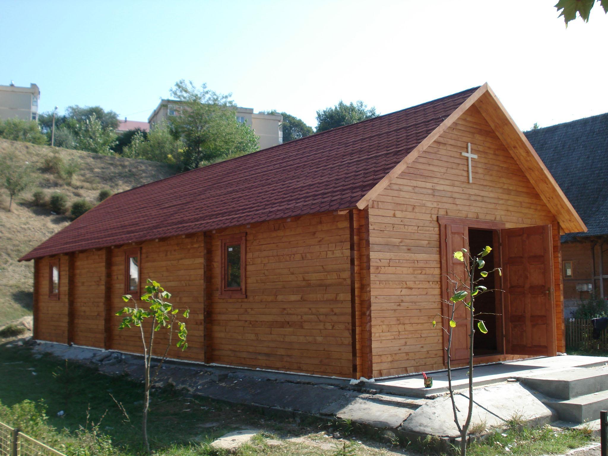 Casa de troncos escuadrados abeto picea abies madera - Casas de madera blancas ...