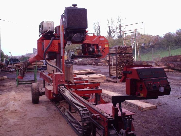 Gebraucht wood mizer lt70 2003 mobile blockbands gen zu for Gebraucht mobile