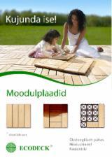 Larch (Larix spp.), Garden Wood Tile