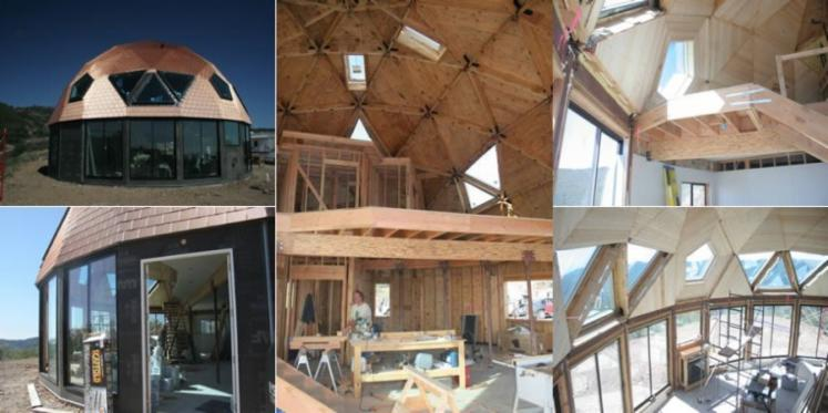 Pre Fabricated Geo Dome Kits Wood Structure House
