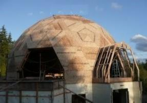 Pre-fabricated geo-dome kits (wood structure house)