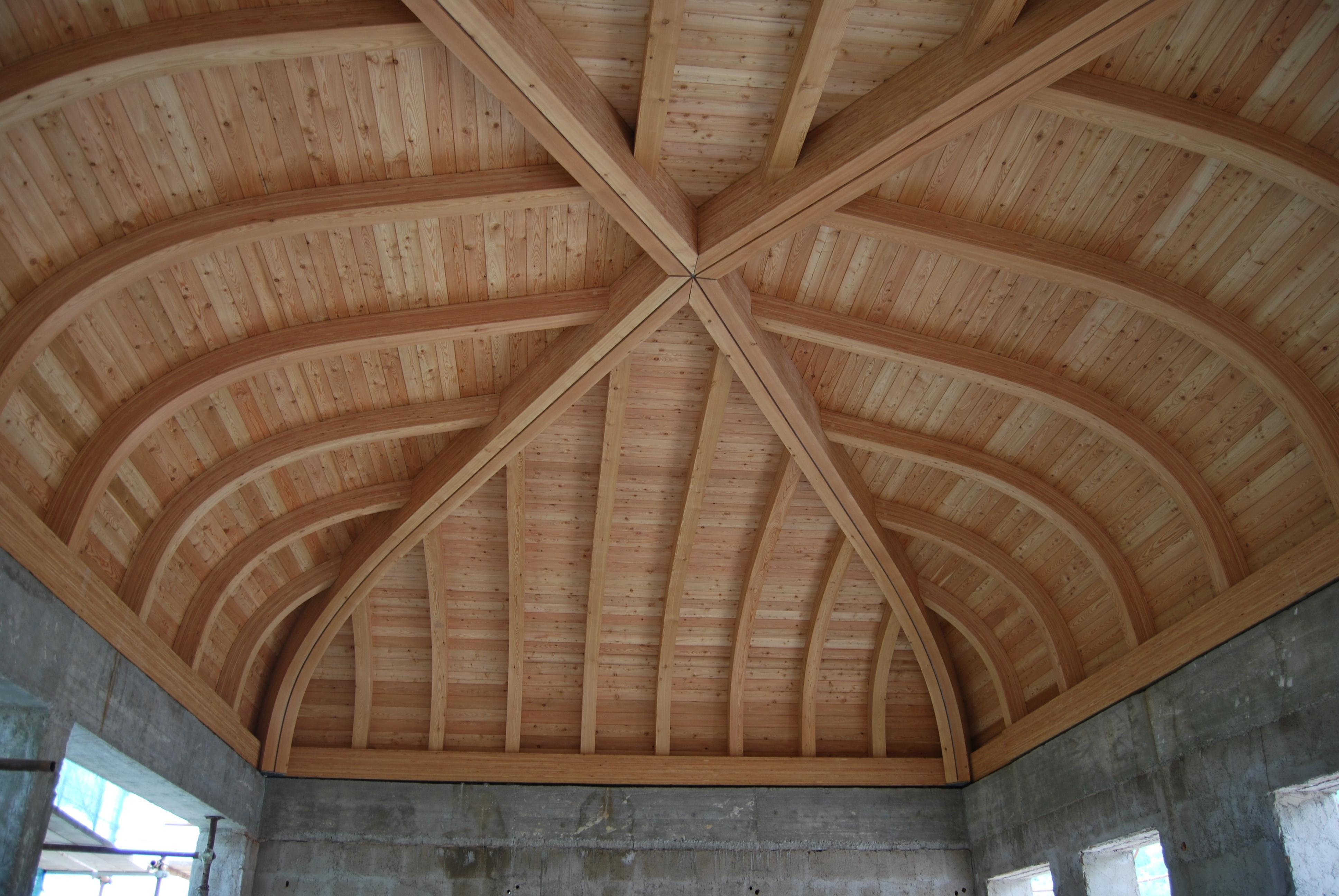 Curved Laminated Wood Beams ~ Glulam shaped curved beams vari tipi noble fir
