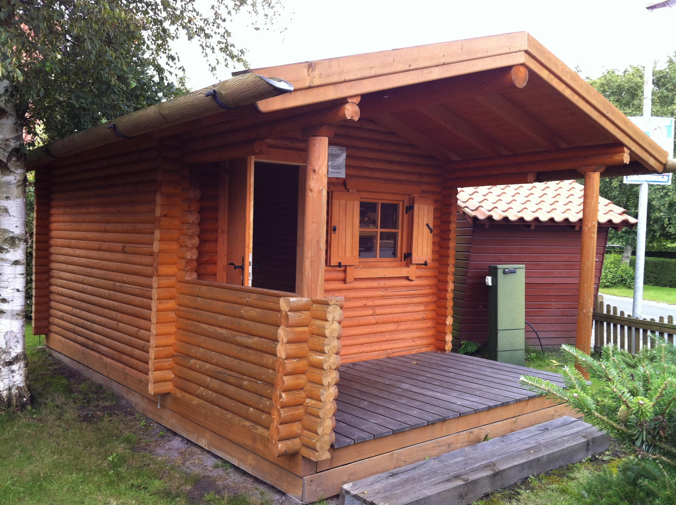 Garden log cabin shed spruce picea abies whitewood for Garden cabin designs