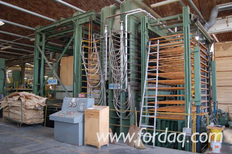 Vend-Presse-Pour-Panneaux-De-Fibres-Ou-De-Particules-Angelo-Cremona-Plywood-Composing-And-Pressing