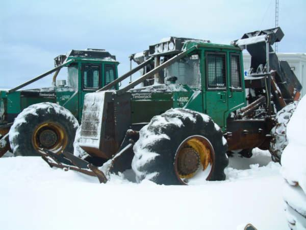 Used Timberjack 450C 1995 & 1994 Grapple Skidder For Sale Canada