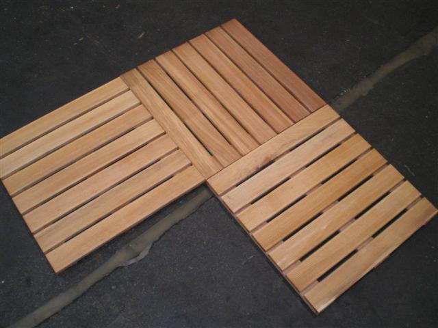 Venta baldosa de madera de jard n madera asi tica alemania for Baldosas de madera para jardin