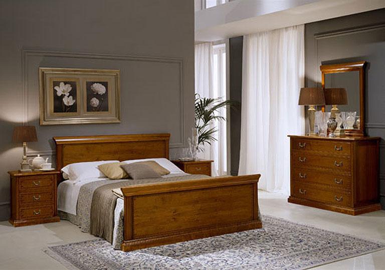 Stylish-chambre-meubles-design- élégant en bois sombre-chambre-vanité-miroir et chaise
