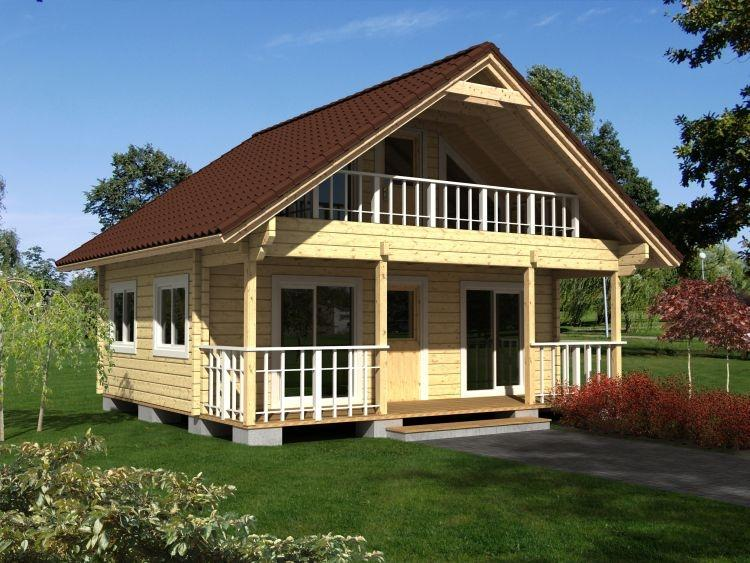 Timber framed house spruce picea abies whitewood for Garajes chalets