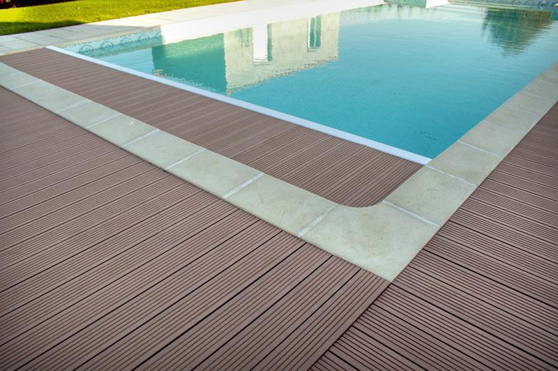 Anti Slip Decking Composite : Composite wood pvc anti slip decking side